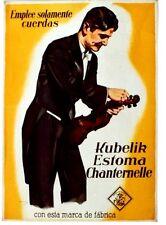 Original vintage poster VIOLIN&CELLO HARS MUSICIAN c.1935