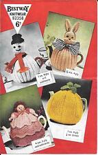 Bestway 2358 Vintage Tea Cosy knitting patterns snowman rabbit pineapple doll