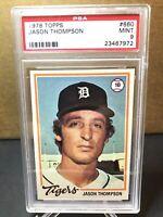 1978 Topps #660 Jason Thompson Detroit Tigers PSA 9 MINT