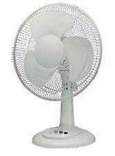 "12"" Oscillating Quiet/Silent Desk Fan 3 Speed Heavy Duty Home/Office - White"