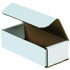 """50 Pack White Corrugated Mailers 7""""x3""""x2"""" Small Shipping Boxes Durable Easy Fold"""