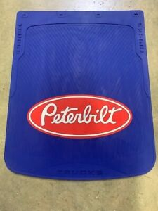 """Peterbilt Mud Flaps Blue /Red logo 24""""x 30"""" (PAIR) HD Rubber LIMITED EDITION"""