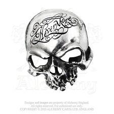 Alchemy - Nevermore Skull - Pewter Belt Buckle