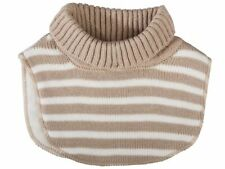 Baby Neck Warmer Scarves With Soft and Warm Fleece Lining One Size 6 Designs Grey Stripes