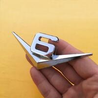 V6 Emblem Chrom Schriftzug Auto Aufkleber Logo 3D Metall V6 emblem Neu