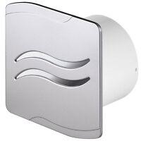"""Salle de bains hotte aspirante 100mm//4/"""" temporisateur pullcord humidité finition chrome ni"""
