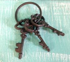 Chamber Skeleton Key Ring Cast Iron Wall Mount New Rustic Old Fashion Vintage
