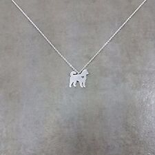 Husky Dog SILVER Plated Necklace Gift Box Siberian Pet Breed Canine Russian