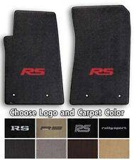 Camaro RS Rally Sport 2pc Classic Loop Carpet Floor Mats-Choice of Color & Logo