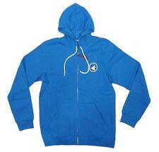 Adidas Skateboarding SILAS FZ Mens Hooded Sweatshirt Blue Medium NEW