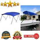 Bimini Top Boat Cover with Rear Support Poles Mounting Hardwares & Storage Boot