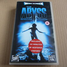 THE ABYSS (Widescreen special edition) on VHS video - James Cameron, Ed Harris