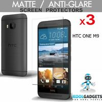 3 Pack Matte Anti-Glare Screen Protectors For HTC ONE M9 with Cleaning Cloth