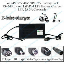 36V 1.8A 2A 3A 5A 10S Li-ion LiPo 12S Lifepo4 E-bike Lithium Battery Charger DIY
