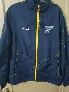 St. Louis Blues Reebok NHL Center Ice Product Full Zip Jacket navy blue size M