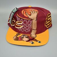 USC Trojans NCAA Vintage 90's TOW Slam Dunk Snapback Cap Hat - NWT
