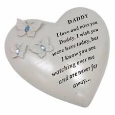 Daddy Heart Butterfly Stone Graveside Memorial Scroll Ornament DF17422DY