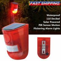 Solar Alarm Light Wireless Motion Sensor Garden Security Lamp IP65 Waterproof