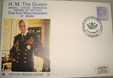 Official Wessex First Day Cover on Mount Batten of Burma From USA 1983