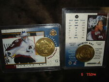 Patrick Roy 1997/1998 Pinnacle Mint Brass Coin & Card-Goalie Colorado Alavanche