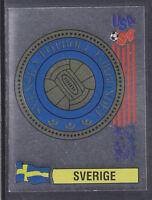 Panini - USA 94 World Cup - # 147 Sverige Foil Badge (Green Back)