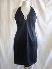 Ladies Dress - Red Herring, size 12, black halterneck, sexy, party, stretch 8265