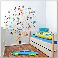 Combo Education Alphabet Animal Tree Wall Stickers Children Nursery Decal paper