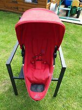 Quinny Zapp Xtra 2 Red Seat Unit. Bumper Bar Compatible