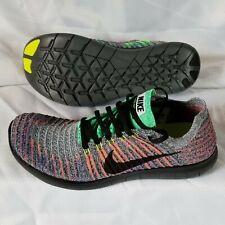 New Size 9 Nike Free RN Flyknit Gray Black Crimson Multicolored 831069-108 Mens
