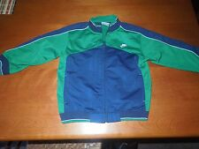 Infant Boys NIKE Zip Up Track Jacket Blue & Green SZ 18 Months