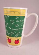 "New listing ""My Favorite Teacher"" Tall Coffee Tea Hot Chocolate Cup Mug Gift, School Class"
