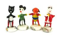 Glass FIGURINES Small Miniatures MOUSE CAT ELEPHANT SANTA Made in Japan Mini