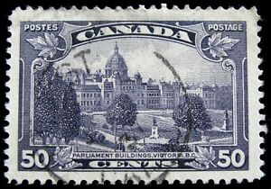 CANADA – Sc #226 – 50¢ – DULL VIOLET – USED – 1935