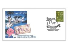 SOLOMON ISLANDS 1987 STARS & STRIPES AMERICA'S CUP GOLD STAMP FIRST DAY COVER
