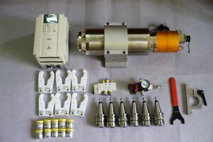 Combo ATC spindle motor BT30 5.5kw 220V 1500rpm~18krpm + VFD + 6pcs NBT30 +more