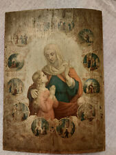 Antique Catholic Icon Life of Saint Anna Lithography 1901!!!