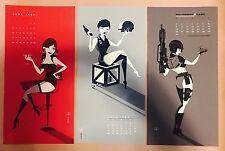 Starship Troopers 3 print poster Calendar set by Tom Whalen - Paul Verhoeven