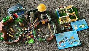 Mostly Complete set Playmobil Zoo 4850 & Animal Care Clinic 4009 - Missing Some