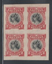 Liberia # 102 MINT Imperf Block of Four 1906 Mercury Perkins Bacon