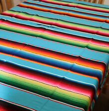 Mexican Sarape Turquoise, Blanket, Rug, Picnic, Throw, Tablecloth, Hot Rod, Yoga
