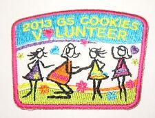 "New Girl Scout Cookie Sale Patch ""GS Cookies Volunteer"" 2013"