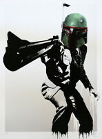 Dirty Harry Fett - Boba Fett Star Wars Poster Print Graffiti Mandalorian Disney