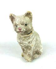 Vintage Paper Mache Cat Candy Container Figurine Composition Chalk