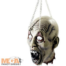 Hanging Dismembered Head Halloween Fancy Dress Zombie Costume Party Accessory