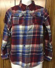 Kids OshKosh B'gosh Red Plaid Cotton Long Sleeve Flannel Shirt Size 14