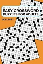 Easy Crossword Puzzles for Adults - Volume 1 (Paperback or Softback)