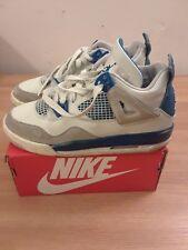 Air Jordan IV 4 Flight Military Blue Retro Shoes Size 5Y/ Wmns Sz 7