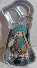 "Vintage Knickerbocker Original Holly Hobbie 9"" Rag Doll Tin Cake Pan 14"" Lot"