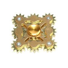 GOLD 9 GEARS LINKAGE FINGER SPINNER EDC HAND SPINNER KID ADULT STRESS RELIEF NEW