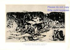 Bondage of live German art print 1930 W. Breuer Heilbronn whip slavery nude dead
